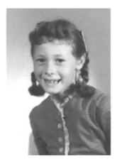 Suzanne Williams as a first-grader