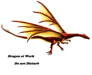 Dragon at Work sign